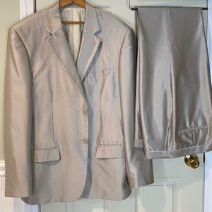Dolce & Gabbana Formal Silver Gray 2 Piece Suit